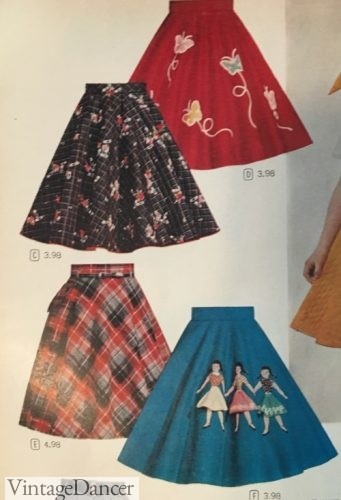 50s poodle skirts without the poodle