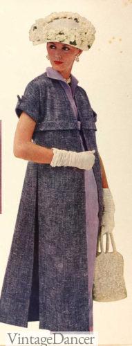 1957 short sleeve dress coat