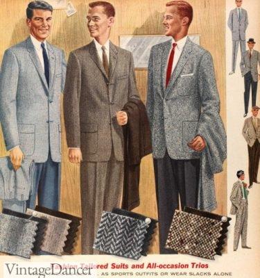 1957 men's tweed suits and sport coats