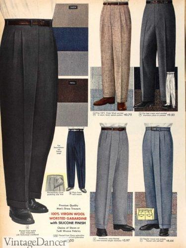 1957 mens slacks pants trousers dress suits
