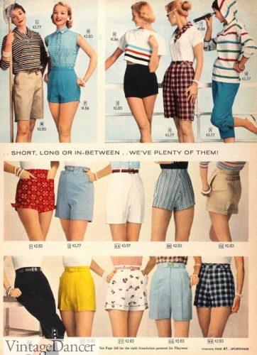 1957 shorts women girls teens - all styles, all pattern