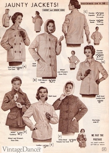 womens 1950s jackets