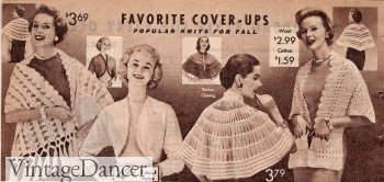 1957 winter knit cape, shawl and bolero