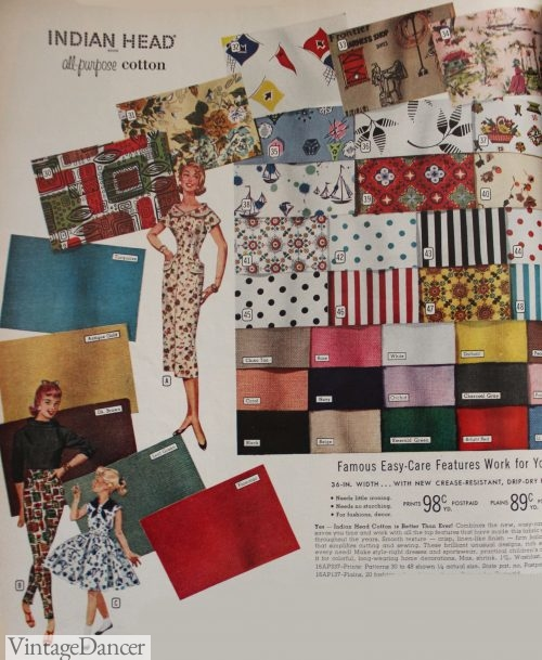 1958 Indian Head Fabric