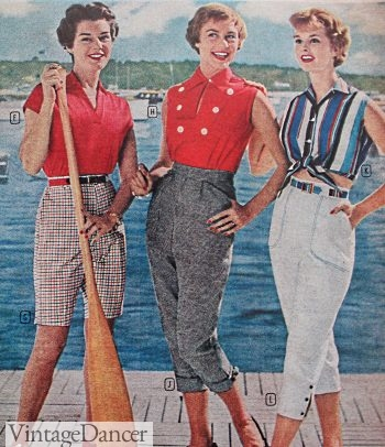 1958 nautical colors make summer capris fashionable