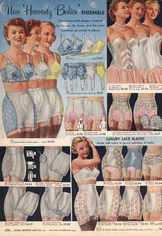 1950s Lingerie History – Bras, Girdles, Slips, Panties, Garters
