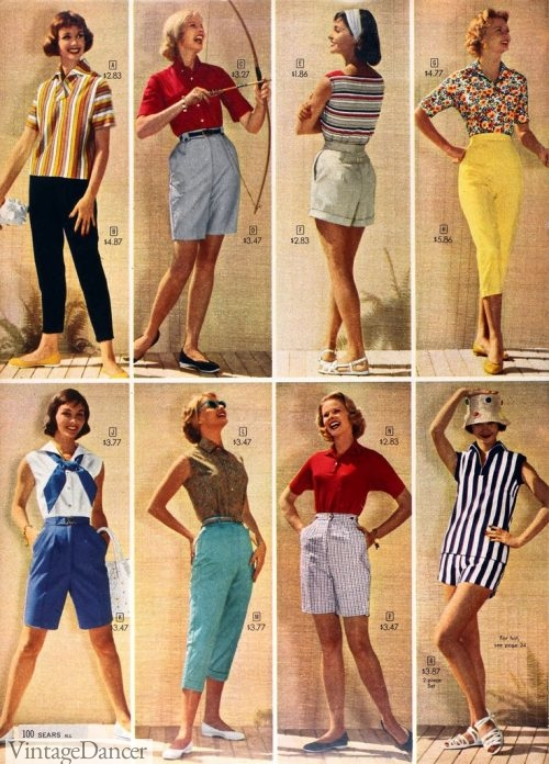 1950s shorts and capris