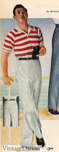 1958 seaside sailor with a Brenton stripe polo and white trousers