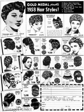 1958 wigs for sale