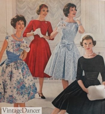 1959 party dresses at VintageDancer