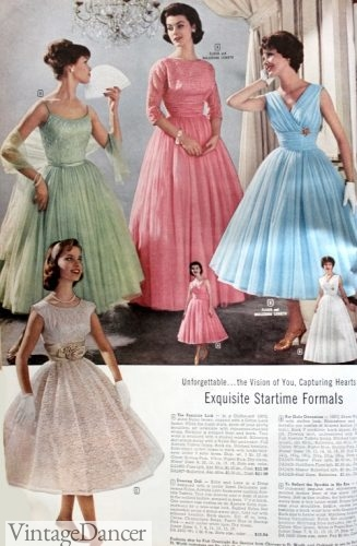 1959 Prom and Party Dresses