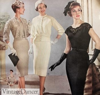Evening dress images 1950s