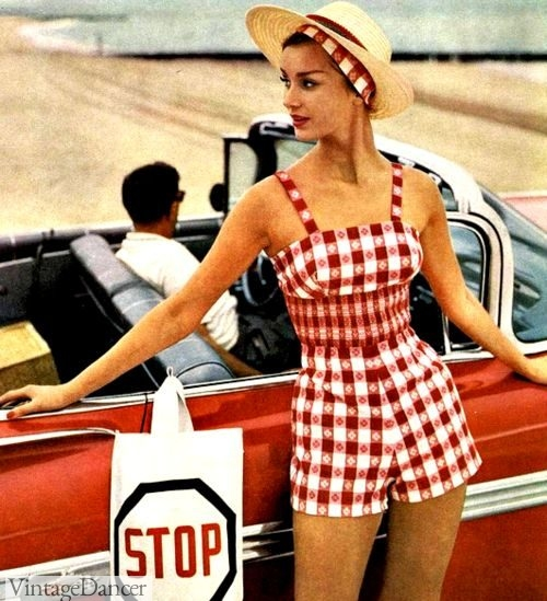 A fitted playsuit from the late 1950s.