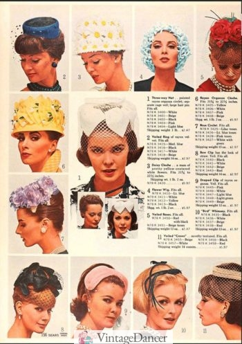1959 flower pot hats and whimsies