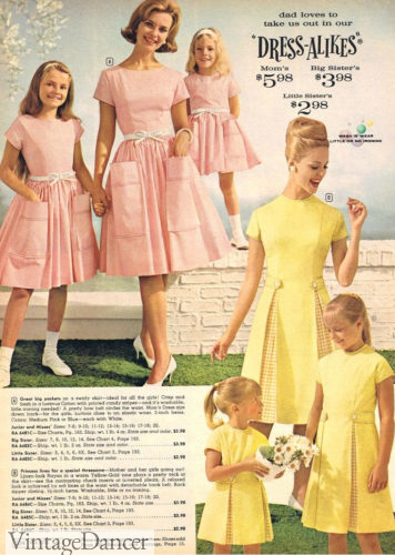 1960 matching housewife and girls dresses