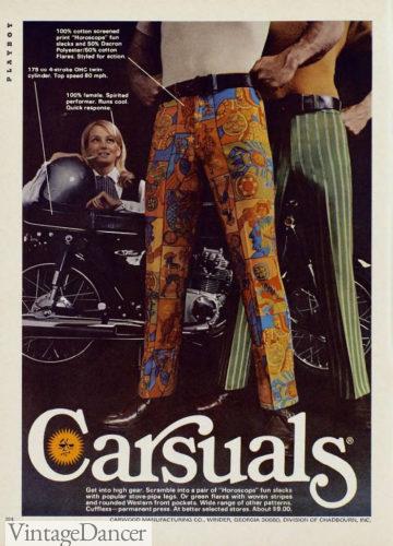 1960s hippie Flower power men's pant