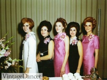 1960s Black and pink bridesmaid dresses (my favorite!)