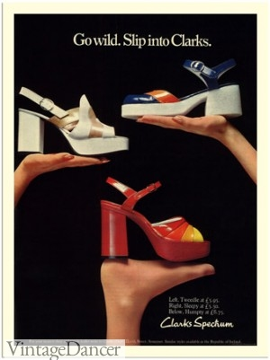 Early 1970s Clarks Platform Shoes