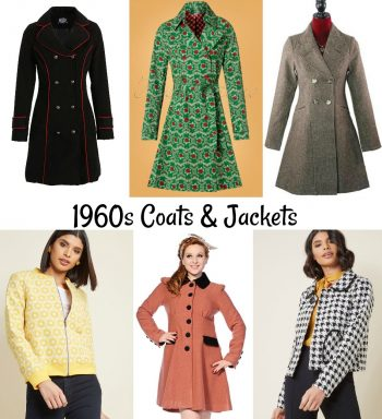 1960s style coats and 60s jackets.