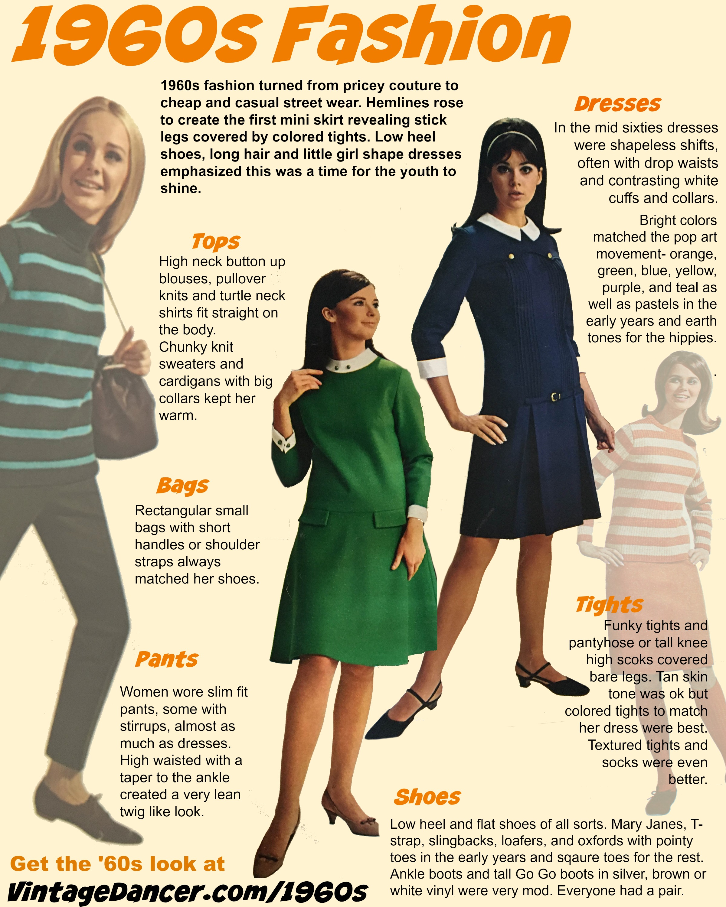 1960s fashion infographic at vintagedancer com 1960s style clothing & fashion,Womens Clothing 1960s