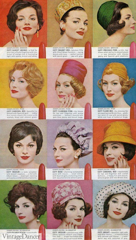 1960s hats and hairstyles women