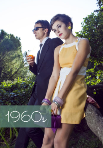 1960s fashion clothing costumes women and men at VintageDancer