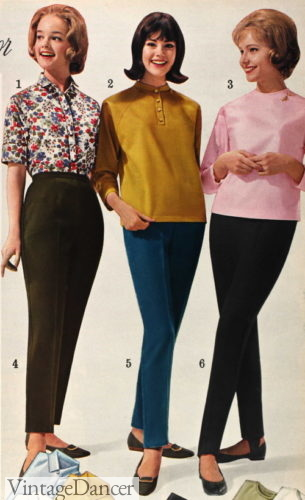 1963 tapered, capri and stretch pants