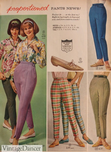 High waist 60s pants