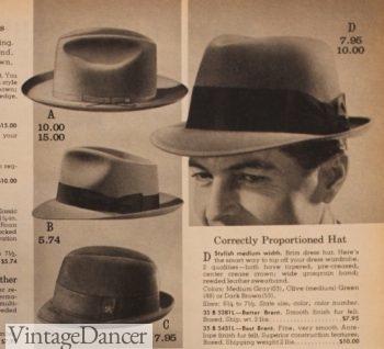 1960s mens hats