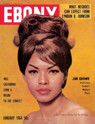 Black women Ebony magazine 1964 updo with switches