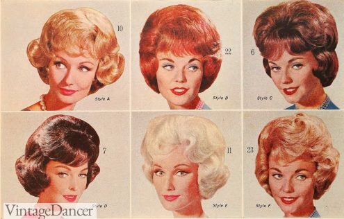 1964 wigs in curly styles 1960s hair styles for women
