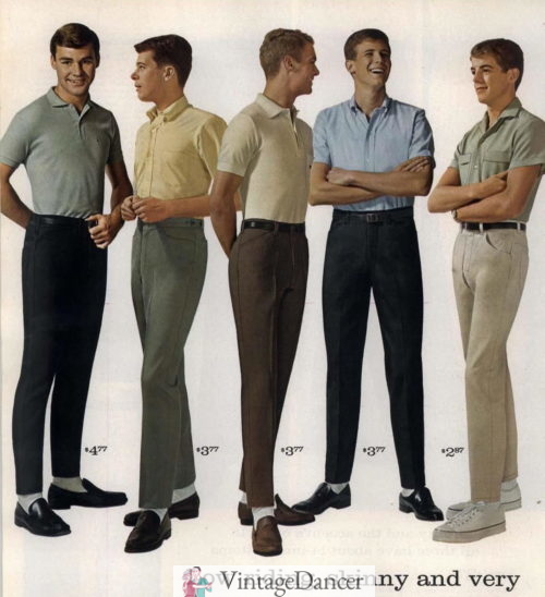 60s Teens/college boys typical school outfits