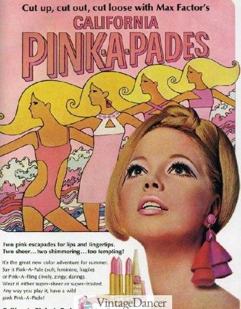 1967 pink mod makeup