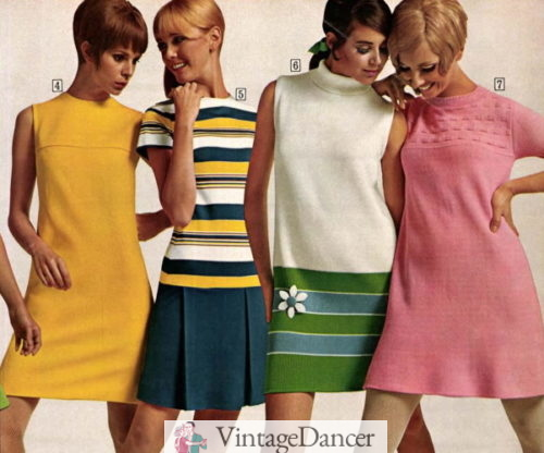 1968 knit shift dresses for teens