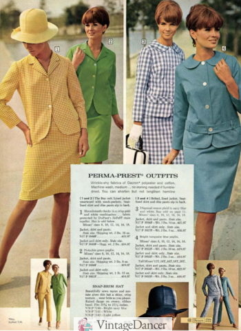 1968 dress suits and pantsuits