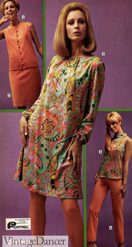 1968 paisley dress and top