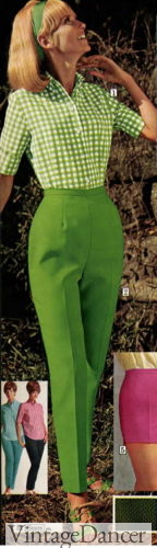 1968 lime green tapered pants