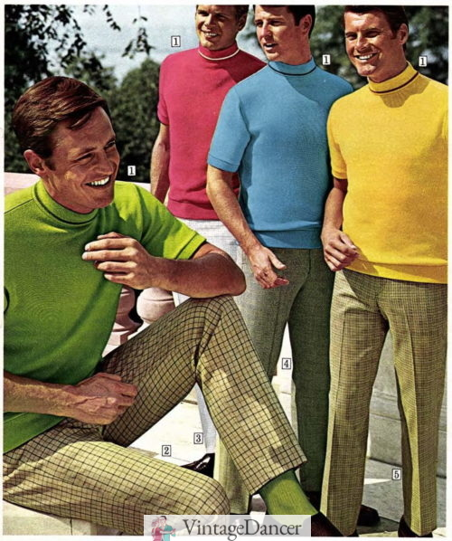 1969 med men's style was worn by hippie to