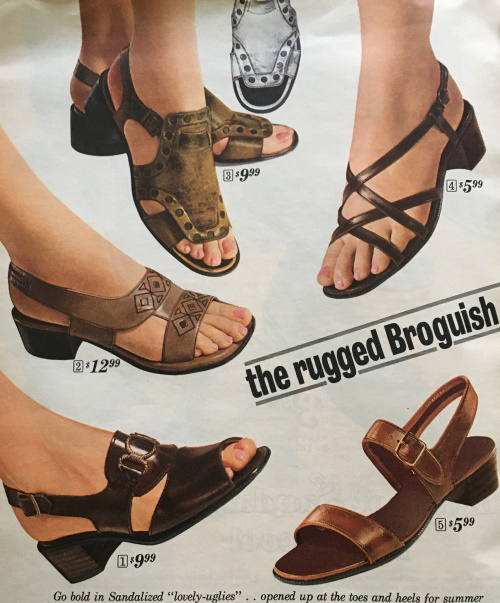 1969 natural leather sandals- the new look for the 1970s