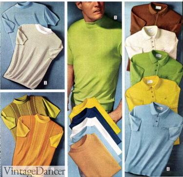 1969 mockneck knit shirts and polos
