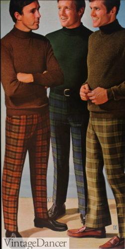 1969 plaid pants mens mod fashion