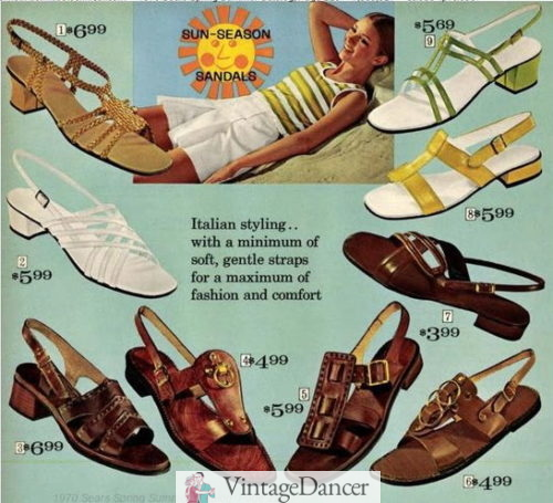 1970 natural leather sandals a mod sandals