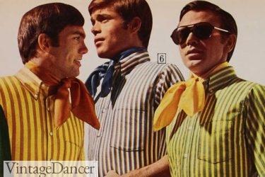 1970 scarf ties neckties men 70s