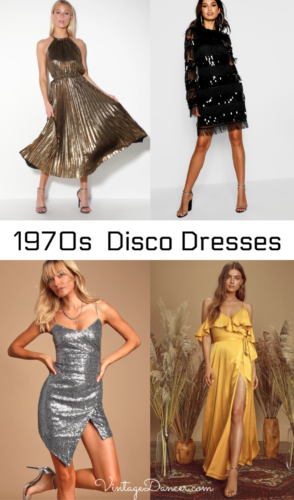 70s Disco dresses 1970s disco dress at VintageDancer