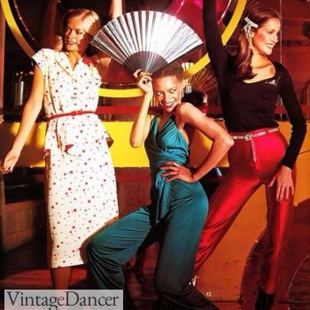 1970s disco clothing, disco fashion for women