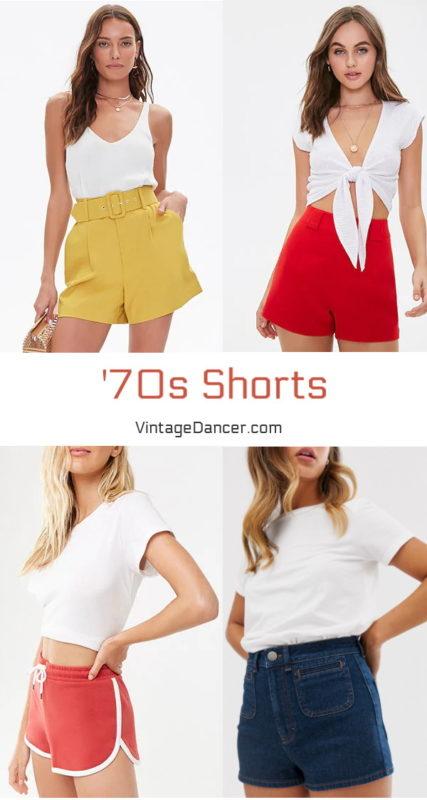 70s shorts 1970s shorts high waisted shorts high rise retro shorts at vintagedancer