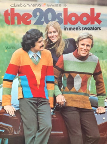 1971 Art Deco pattern sweaters