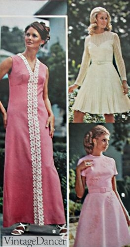 1973 long and short evening dresses