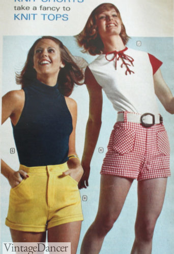 1973 short shorts with halter tops