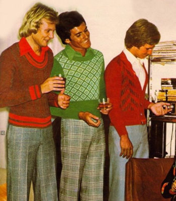 1974 men's vintage crop sweaters